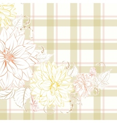 Excellent pattern with chrysanthemum vector