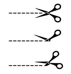 Cut lines with scissors vector
