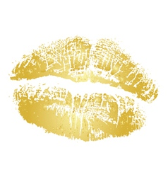 Gold kiss vector