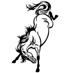 Bucking horse tattoo vector