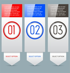 Option banners vector