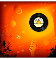 Retro 45 rpm music background vector