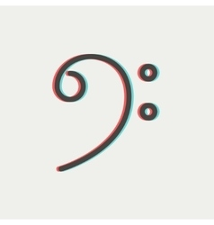 C-clef thin line icon vector