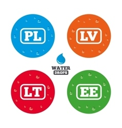 Language icons pl lv lt and ee translation vector