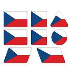 Buttons with flag of czech republic vector