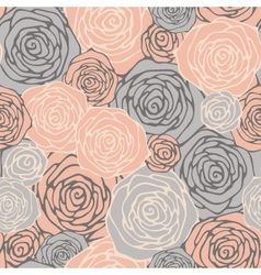 Seamless pattern with decorative roses floral vector