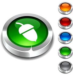 Acorn 3d button vector