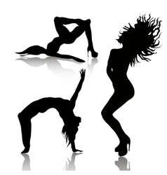 Set of dancing woman vector