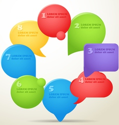 Group of color speech clouds vector