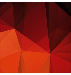 Abstract red polygon mosaic background vector