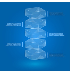 Glass cube infographic vector