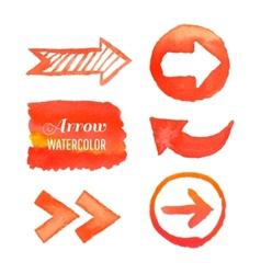 Set watercolor arrows vector