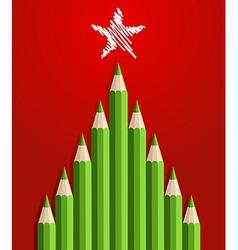 Pencils christmas tree vector