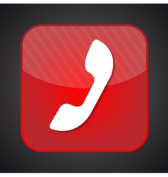 Phone icon - red app button vector