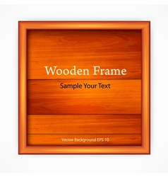 Wooden board with frame vector