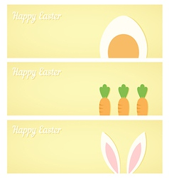 Yellow easter banners vector