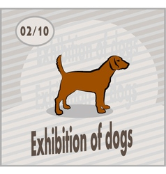 Exhibition of dogs vector
