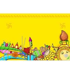Diwali doodle vector