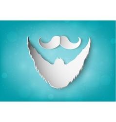 Paper mustache vector