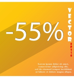 55 percent discount icon symbol flat modern web vector