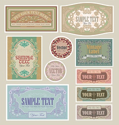 Set vintage label vector