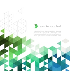Abstract technology background with color triangle vector