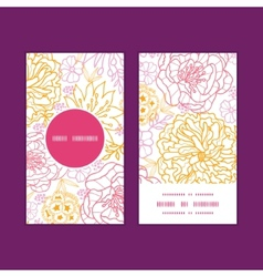 Flowers outlined vertical round frame vector