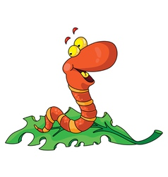 Laughing worm vector