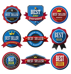 Best seller retro vintage badges and labels flat d vector