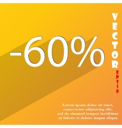 60 percent discount icon symbol flat modern web vector