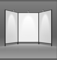Blank trade show booth vector