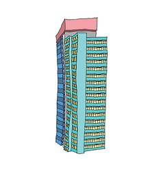 A view of apartment vector