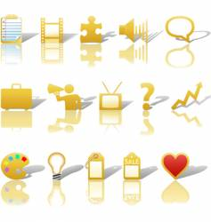 Communications media business icons vector