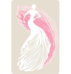 Bride mannequin vector