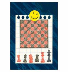 Black and red chessboard vector