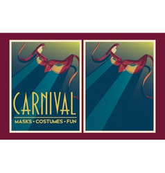 Set of carnival party posters vector