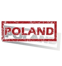 Poland outlined stamp vector