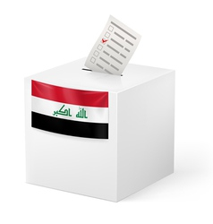 Ballot box with voting paper iraq vector