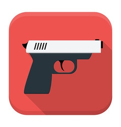 Action movie app icon with long shadow vector
