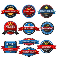 Premium quality retro vintage badges and labels fl vector