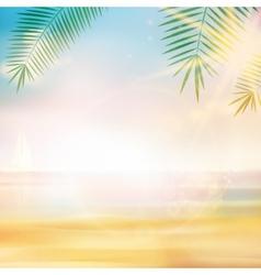 Vintage seaside view poster template vector