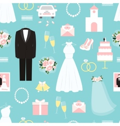 Wedding seamless background pattern vector