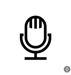 Microphone icon isolated on a white background vector