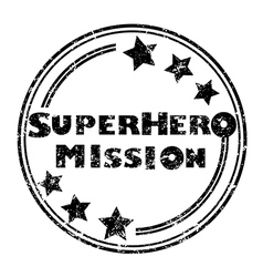 Superhero mission vector