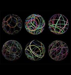 Scribble spheres vector