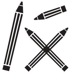 Flat pencil sign vector