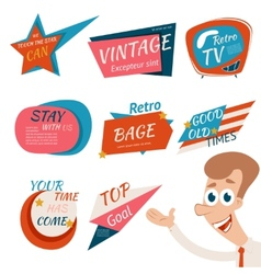 Vintage style retro badges and emblems vector