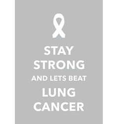 Lung cancer poster vector