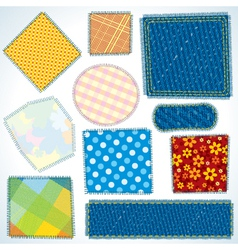 Cloth patches vector