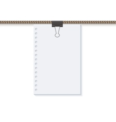 Concept rope with blank on white vector